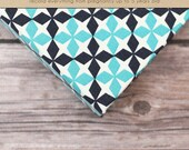 Baby  Book (Pregnancy - 5 years) - Teal and Dark Navy Lattice  (136 designed journaling pages & personalization included)