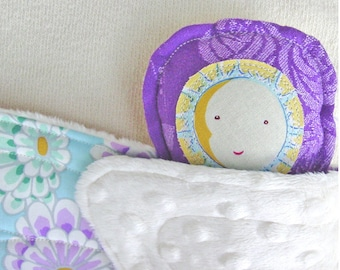 Butterfly Plush - Wrap Scrap Butterfly - Oscha Foxglove Roses and Minky - Handmade