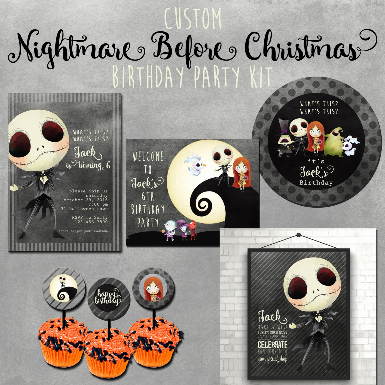 Nightmare Before Christmas Birthday Party: Nightmare Before Christmas Party Choose Your Own Party Kit