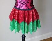 Running Skirt, Sparkle Running Skirt, Christmas Running Skirt, Elf Running Skirt, 5K Skirt, Race Skirt, Princess Skirt