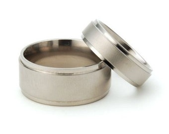 Titanium Ring Sets For Him And Her, Ring Sets, His And Her Rings: 10RC-XB.6RC-XB