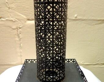 Large Atomic Mod Mid Century Metal Candle Holder
