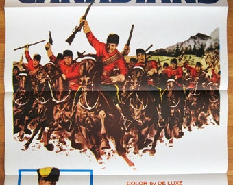 vintage original 1961 film poster THE CANADIANS Robert Ryan Teresa Stratas Saskatchewan