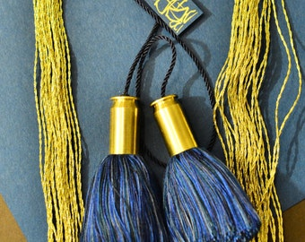 Military bookmark Bullet Tassel Bookmark, ornament, or decoration in navy blue