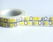 Yellow and gray leaves washi tape