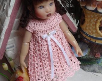 PDF PATTERN Crochet 7 1/2 8 inch Kish Riley Doll Dress Empire Cap Sleeve Bottoms Shoes