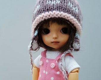Pukifee Lati Yellow Irrealdoll Peruvian skii snow earflaps hat with pompom fairisle jacquard pink brown beige
