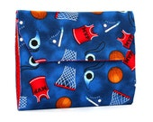 Basketball Deluxe Crayon Wallet with option to add a name, Crayon organizer, Art wallet, Crayon keeper, Art kit, Handmade toy, Kids art toy
