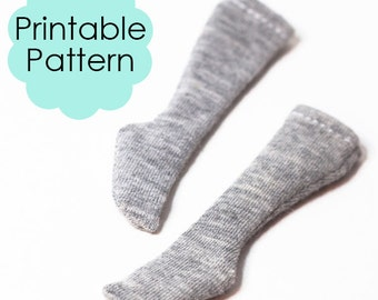 Doll clothes | Printable pattern | Doll Socks | Easy sewing