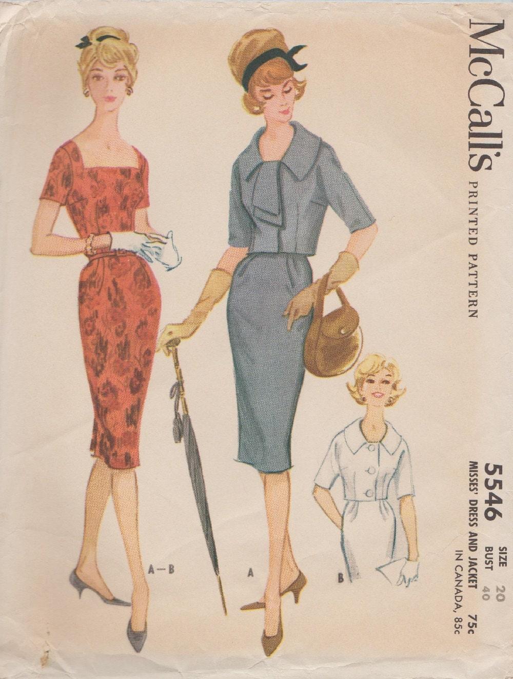 Schnittmuster McCalls 5546 / Vintage 60er Jahre / Kleid und