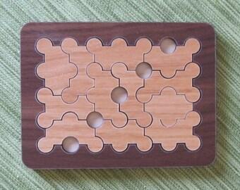 Domino Peg Wood Puzzle