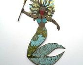 Mermaid Paper Doll, Black Mermaid Doll, African American Mermaid, Warrior Paper Doll, Articulated Paper Doll, Mermaid, Tribal Warrior Doll