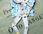 Jointed Paper doll, Unique Flower Fairy