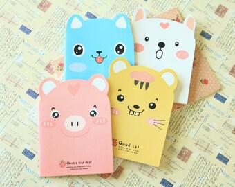 Cute Animals Shaped Mini cartoon notebook