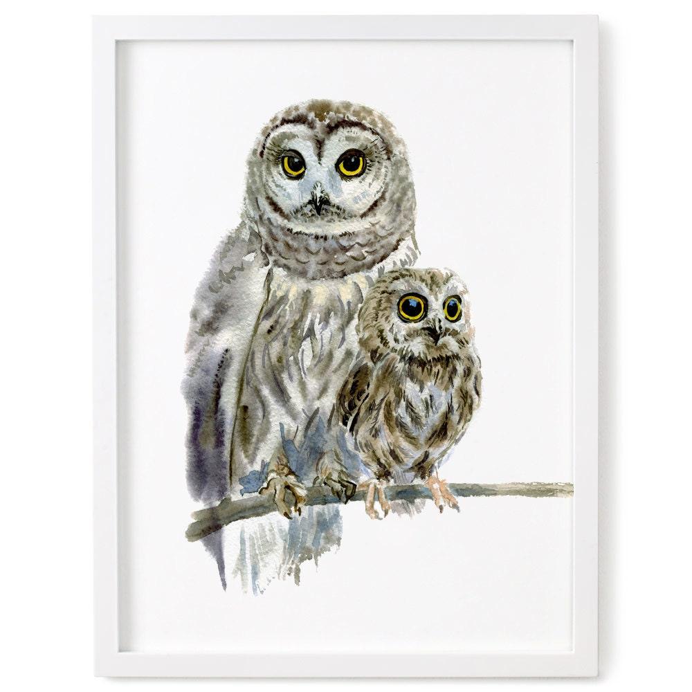 Owl Owl Print Woodland Decor Nursery Art Nursery Decor