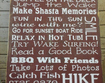 Cabin Rules sign Lake Rules sign Custom Extra large Vintage Cabin, Lake, Cottage, Resort, Lodge  Rules Sign Typography  subway sign