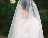 Destiny, Drop Veil, Lace Veil, Chapel Veil, Cathedral Lace Veil, Lace Cathedral Veil, Wedding Veil, Veil With Blusher, Blusher Veil, Lace