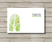 WOODLAND FOREST Design THANKYOU Card, Instant Download Thank you Card, Squirrel Bday, Baby Shower, Birthday, 6x4, Boy Invite