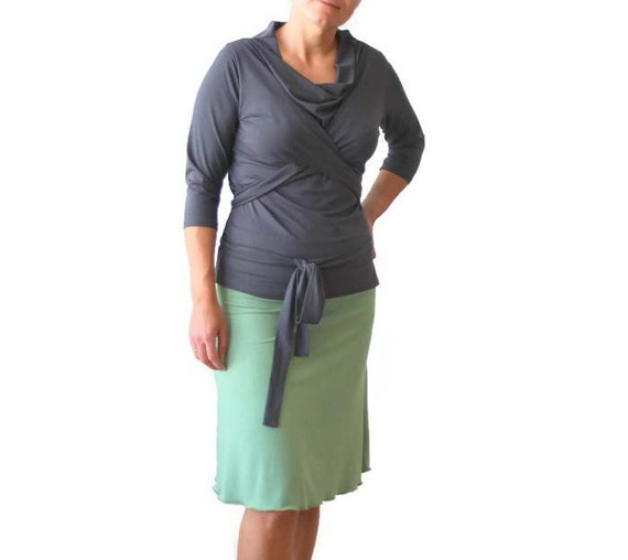 Wrap top, womens clothing, Wrap top, Cowl neck, plus size clothing, long sleeve top, short sleeve top, plus size wrap top, spring top