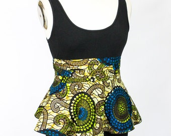 African Print Peplum Belt sizes 2 - 26