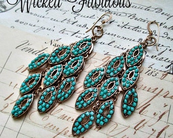 GoRGeouS GYPsY/SouTHWeST STyLe TuRQuoiSe EaRRiNGS!