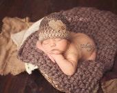 Ready To Ship, 3-6 Months, Crochet Baby Boy Little Gentleman Valentine Beanie, Photo Prop, Heart, Shower Gift, Photography