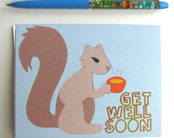 Get Well Squirrel Card