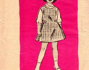 1960s Girls Jumper Pattern - Vintage Mail Order Anne Adams 4908 - Size 8