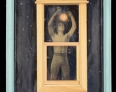 Star Man by Leslee Lukosh of Foundturtle in Portland, Oregon home decor original mixed media assemblage wall art