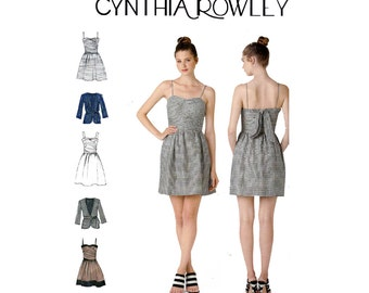 Simplicity 2250 CYNTHIA ROWLEY Prom Formal Dress & Jacket Out Of Print Pattern Size 6 8 10 12 14 or 14 16 18 20 22 UNCUT Factory Folded
