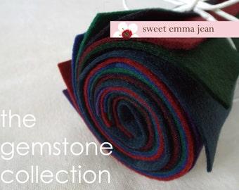 9x12 Wool Felt Sheets - The Gemstone Collection - 8 sheets of wool blend felt
