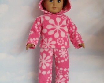 18 inch doll clothes -  #612 Pink Fleece Pant Outfit handmade to fit the American Girl Doll - FREE SHIPPING