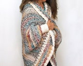 "Crochet Shrug PATTERN / Oversized Cardigan Sweater / Chunky Knit /Made in Canada / ""Luxe Oversized Shrug"""
