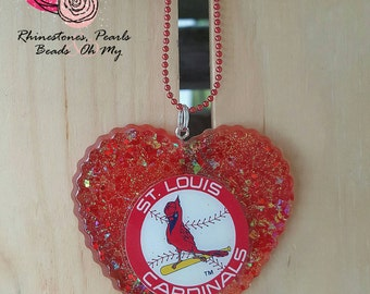 St.Louis Cardinals Necklace-Birthday Gift-Chain Necklace-Ladies Necklace-Birthday Favor-Womans Necklace