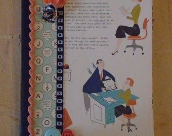 Super Office Secretary Journal Altered Composition Book