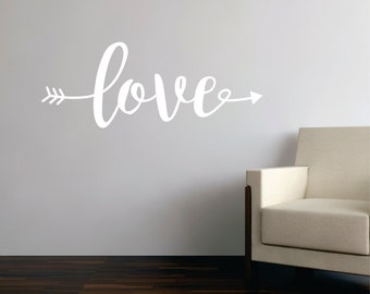 Love Wall Decals - Love Wall Quote - love vinyl wall decal - love vinyl wall quote - love decal - Wall Decal Quote - Removable Wall Decals