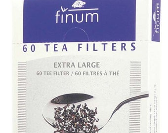 XL Tea Filters ~ Biodegradable XL Extra Large paper tea brewing filters