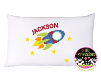 Personalized Rocket PillowCase