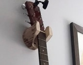 Guitar Hanger Rustic Log Wall-Mounted Unique Gift for Musician, 5 Year Anniversary Present, Banjo, Mandolin, Simple Storage Accesory