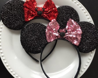 Minnie Mouse Ears Minnie Mouse Headband Minne Mouse Theme Party Minnie Mouse Halloween Costume