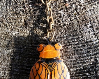 Wooden Cicada Key Chain