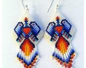 Waterbird earrings, peyote stitch
