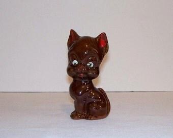 Vintage Redware Cat Figurine - Japan - Item 1451-1