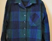 Vintage Wool Jack Winter Plaid Shirt Jacket sz. Large