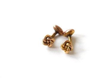 Antique Love Knot Cuff Links c.1900