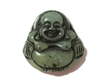 CARVED Buddha Pendant Agate Jade Stone Focal Pendant Drop Natural Stone Buddha Carved Spiritual Religious Jewelry Mosaic Supplies (G159)