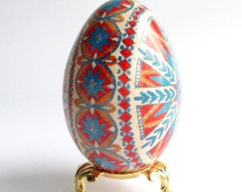 goose egg Pysanka Star Ornament Ukrainian Embroidery design Easter egg goose egg pysanka Traditional Ukrainian gifts