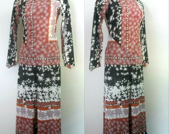Lame' Maxi Dress Boho Chic Vintage 1970s Mr. Boots Limited Edition