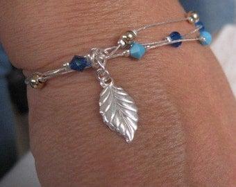 Silver Beaded Bracelet, Minimal Bracelet, Silver Charm Bracelet, Multi strand Silver Bracelet, Layered Bracelet, Layered Jewelry, Bracelet