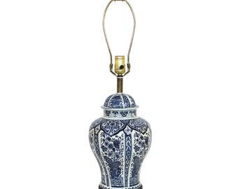 Boch Royal Sphinx Delft Blue Ginger Jar Lamp